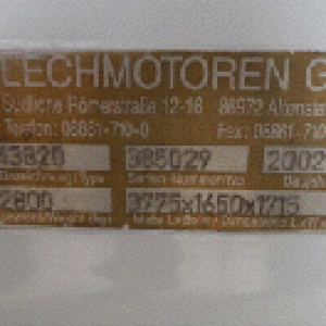 Sign of a Ground Power Unit from Lechmotoren.