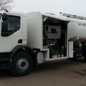 Image of the Rohr Volvo RFT Aircraft Refueling Truck viewed from left.