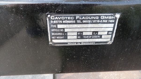 Description Sign of Cavotec Fladung Passenger Stairs